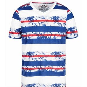 NWT American Rag men's Stripes & Floral T-Shirt.